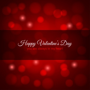 valentines day red lights design background