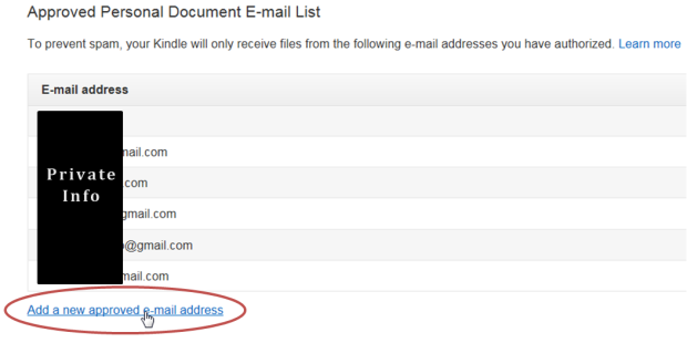 add a new approved email address