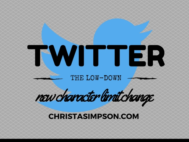Twitter - new character change 2016